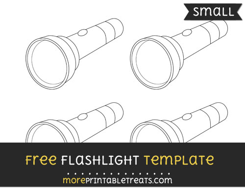 Free Flashlight Template - Small