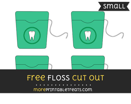 Free Floss Cut Out - Small Size Printable