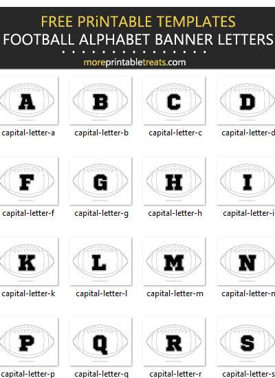 Free Football Alphabet Banner Letter Templates - Printable