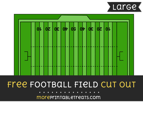 Free Football Field Cut Out - Large size printable