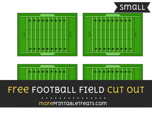 Free Football Field Cut Out - Small Size Printable