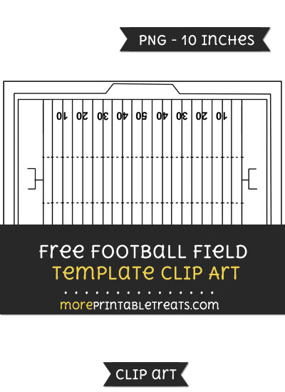 Free Football Field Template - Clipart