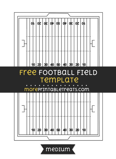 Free Football Field Template - Medium