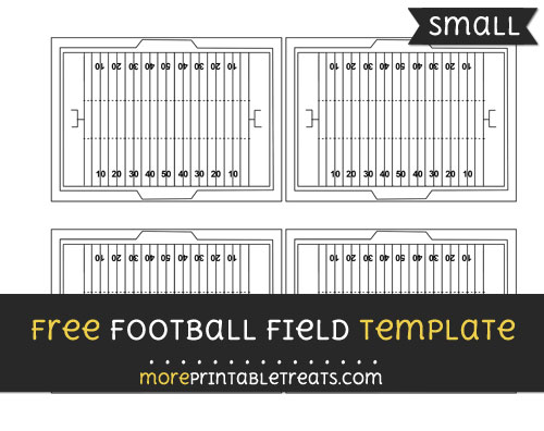Free Football Field Template - Small