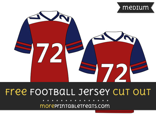 Free Football Jersey Cut Out - Medium Size Printable