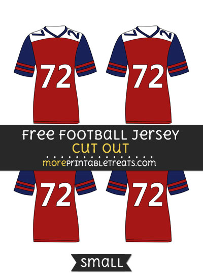 Free Football Jersey Cut Out - Small Size Printable