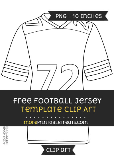Free Football Jersey Template - Clipart