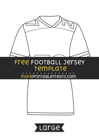 Free Football Jersey Template - Large