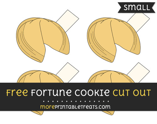 Free Fortune Cookie Cut Out - Small Size Printable