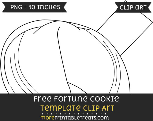 Free Fortune Cookie Template - Clipart