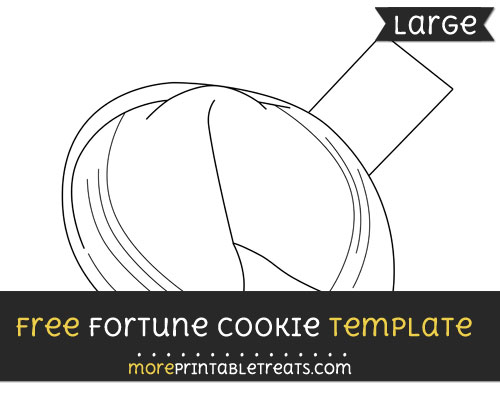 Free Fortune Cookie Template - Large