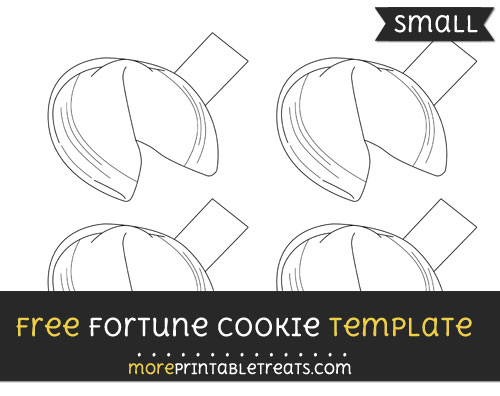 Free Fortune Cookie Template - Small