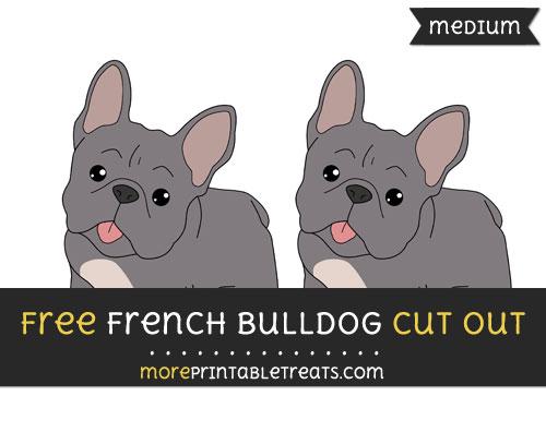 Free French Bulldog Cut Out - Medium Size Printable