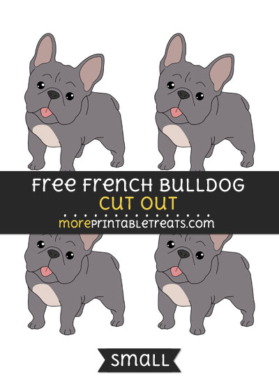 Free French Bulldog Cut Out - Small Size Printable