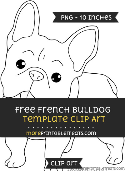 Free French Bulldog Template - Clipart