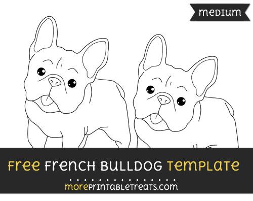 Free French Bulldog Template - Medium