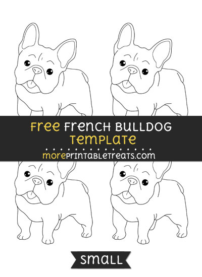 Free French Bulldog Template - Small