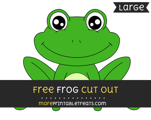 Free Frog Cut Out - Large size printable