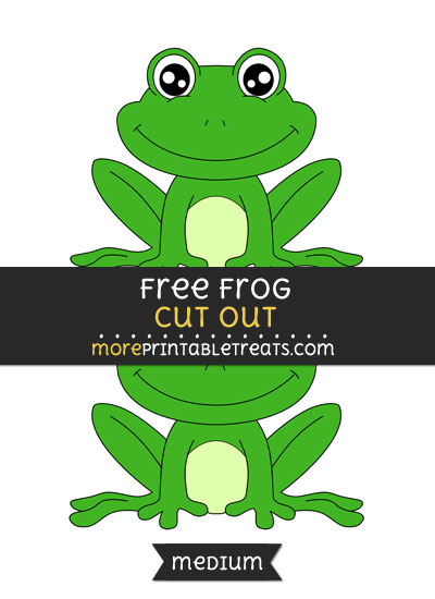 Free Frog Cut Out - Medium Size Printable