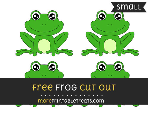 Free Frog Cut Out - Small Size Printable