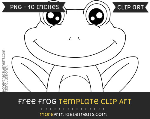 Free Frog Template - Clipart