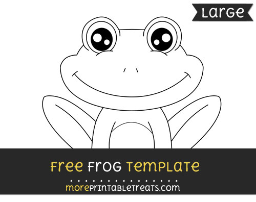 Free Frog Template - Large