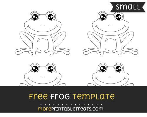 Free Frog Template - Small