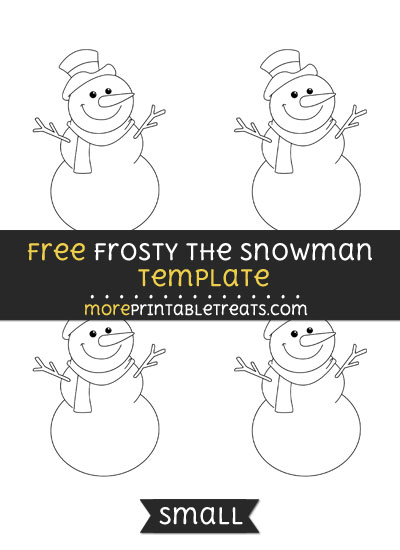 Free Frosty The Snowman Template - Small