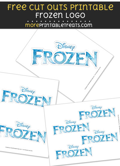 Free Frozen Logo Cut Out Printable with Dashed Lines - Frozen