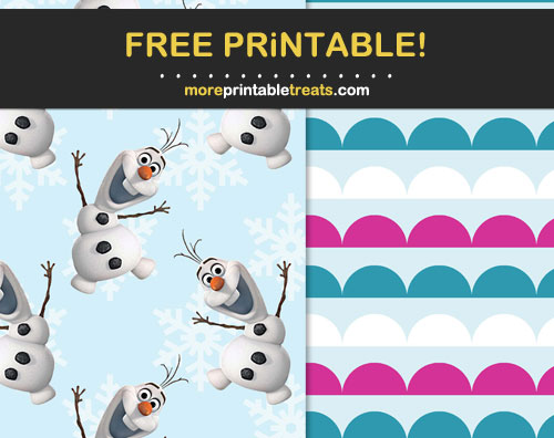 Free Frozen Printable Papers