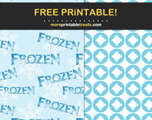 Free Printable Frozen Scrapbook Papers