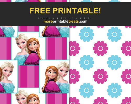 Free Printable Frozen Sisters Scrapbook Papers