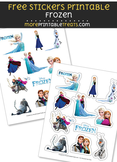 FREE Frozen Stickers Printable to Print at Home
