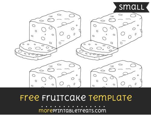 Free Fruitcake Template - Small