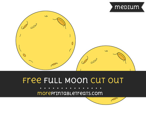 Free Full Moon Cut Out - Medium Size Printable