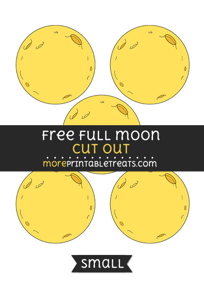 Free Full Moon Cut Out - Small Size Printable