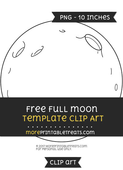 Free Full Moon Template - Clipart