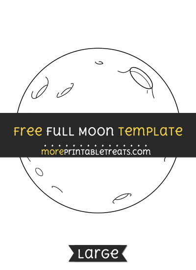 Free Full Moon Template - Large