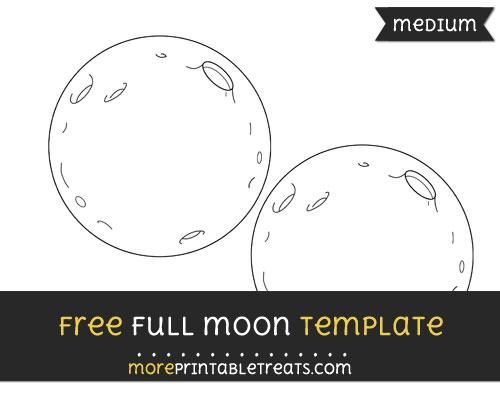 Free Full Moon Template - Medium