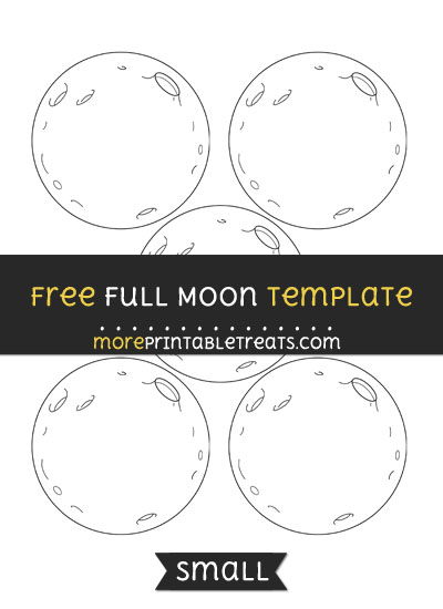 Free Full Moon Template - Small