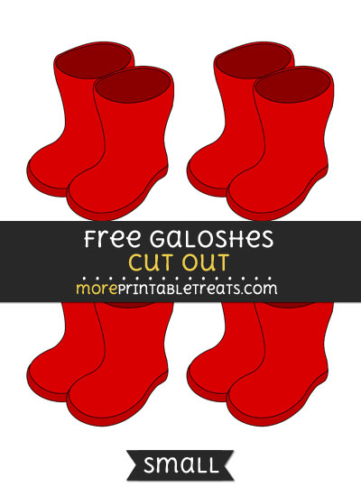 Free Galoshes Cut Out - Small Size Printable