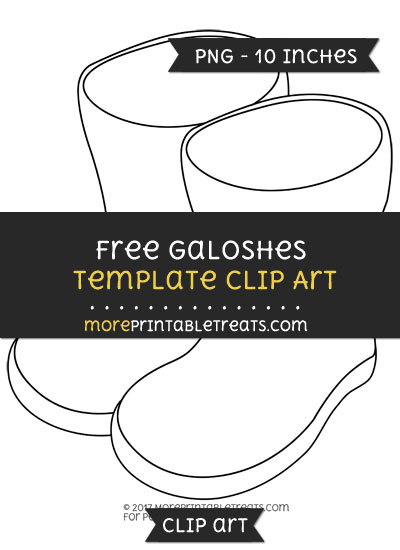 Free Galoshes Template - Clipart