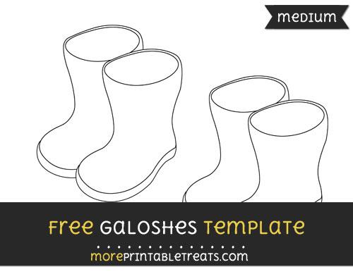 Free Galoshes Template - Medium