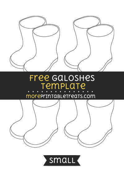 Free Galoshes Template - Small