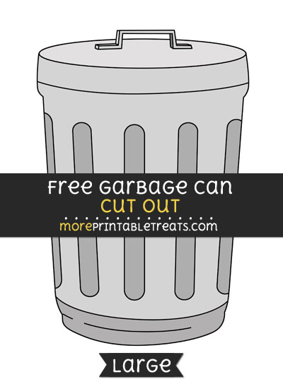 Free Garbage Can Cut Out - Large size printable