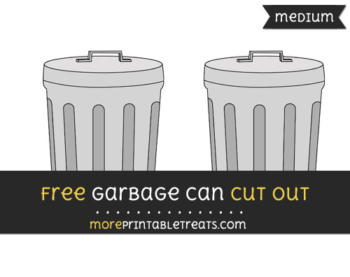 Free Garbage Can Cut Out - Medium Size Printable