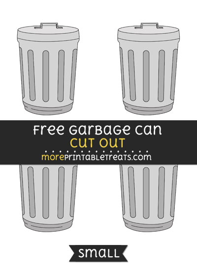 Free Garbage Can Cut Out - Small Size Printable