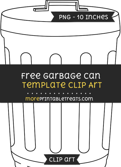 Free Garbage Can Template - Clipart
