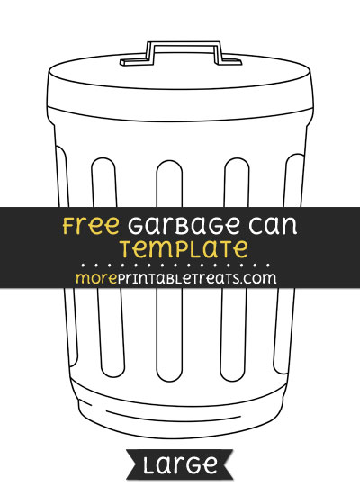 Free Garbage Can Template - Large