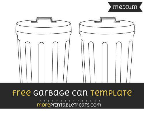 Free Garbage Can Template - Medium